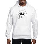 Thinking of White Water Rafti Hooded Sweatshirt