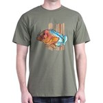 Cartoon Fish Grouper Dark T-Shirt