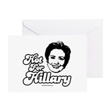 Hot for Hillary Greeting Card