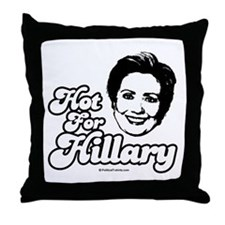 Hot for Hillary Throw Pillow