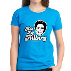 Hot for Hillary Women's Dark T-Shirt