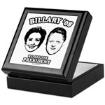 Billary 08: We are the President Keepsake Box