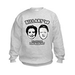 Billary 08: We are the President Kids Sweatshirt