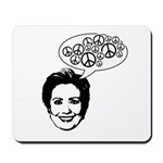 Hillary 2008 for peace Mousepad