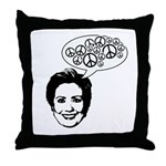 Hillary 2008 for peace Throw Pillow