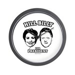 Hill Billy for President Wall Clock