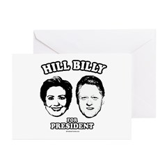 Hill Billy for President Greeting Cards (Pk of 20)