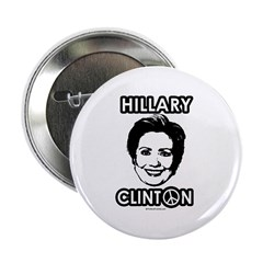 "Hillary Clinton for Peace 2.25"" Button"