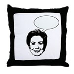 Hillary (write in message) Throw Pillow