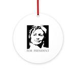 Hillary Clinton Ornament (Round)