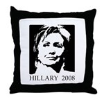 Hillary 2008 Throw Pillow