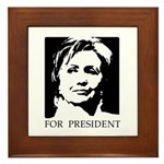 Hillary Clinton Framed Tile