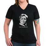 Hillary Clinton Women's V-Neck Dark T-Shirt