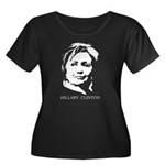 Hillary Clinton Women's Plus Size Scoop Neck Dark