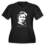 Hillary Clinton Women's Plus Size V-Neck Dark T-Sh