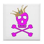 Pink Pirate Royalty Tile Coaster