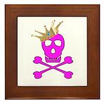 Pink Pirate Royalty Framed Tile