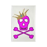 Pink Pirate Royalty Rectangle Magnet