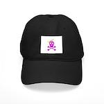 Pink Pirate Royalty Black Cap