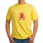 Pink Pirate Royalty Yellow T-Shirt