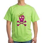 Pink Pirate Royalty Green T-Shirt