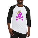 Pink Pirate Royalty Baseball Jersey