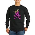 Pink Pirate Royalty Long Sleeve Dark T-Shirt