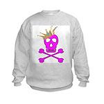 Pink Pirate Royalty Kids Sweatshirt