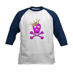 Pink Pirate Royalty Kids Baseball Jersey