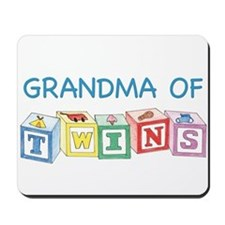 Grandma of Twins Mousepad