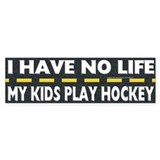 My Kids Play Hockey Bumper Car Sticker