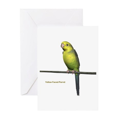 Yellow Faced Parrot Greeting Card