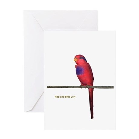 Red N Blue Lori Greeting Card