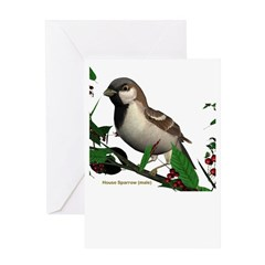 House Sparrow (male) Greeting Card