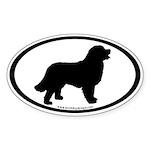 Bernese Mountain Dog (inner border) Oval Sticker