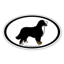 Bernese Mt. Dog (inner border) Oval Decal