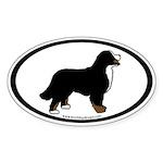 Bernese Mt. Dog (inner border) Oval Sticker