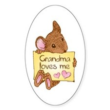 Mouse Love GM Oval Decal
