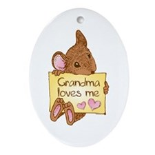 Mouse Love GM Oval Ornament