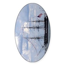 USS Constitution Oval Decal