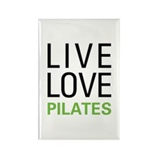 Live Love Pilates Rectangle Magnet (100 pack)