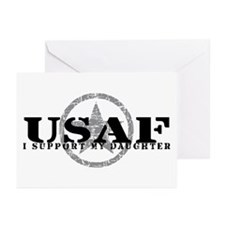 I Support My Daughter - Air Force Greeting Cards (