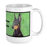 Black Doberman Pinscher Mug