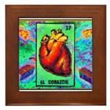 El Corazon &amp; Arrows Framed Tile
