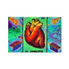 El Corazon & Arrows Rectangle Magnet (10 pack)