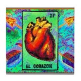 El Corazon & Arrows Tile Coaster