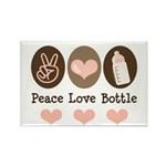 Peace Love Bottle Rectangle Magnet (10 pack)