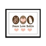Peace Love Bottle Framed Panel Print