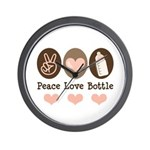 Peace Love Bottle Wall Clock