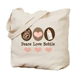 Peace Love Bottle Tote Bag